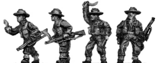 Gurkha infantry with No1 Mk3 rifle khukri drawn in slouch hat