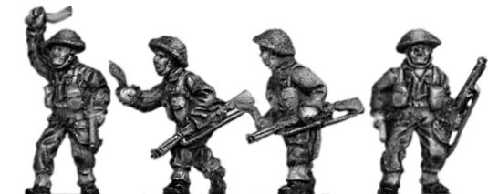 Gurkha infantry with No1 Mk3 rifle khukri drawn in helmet