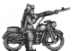 Bersaglieri on motorcycle with LMG