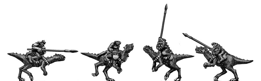 Lizard Warrior Raptor Riders