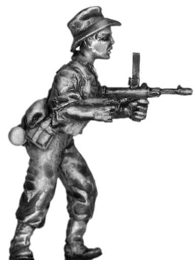 World War Two Australian Digger with Owen SMG