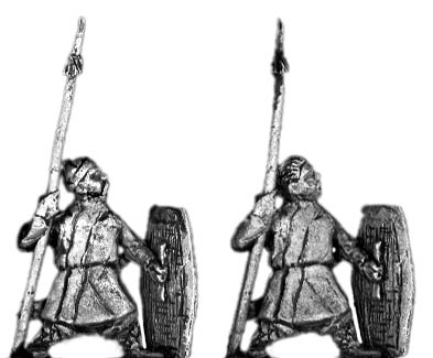 Spearman with shield