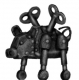 Mechanical clockwork pig