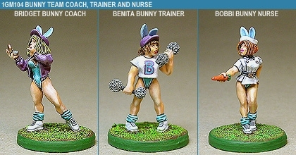 Gridiron Bunny Coach, Trainer And Nurse