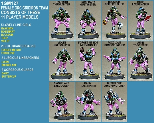 Female Orc Gridiron Team