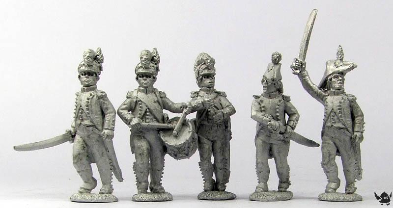 28mm French Light Infantry Command