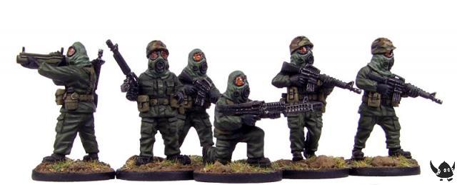 1960-1980s American troops in MOPP gear